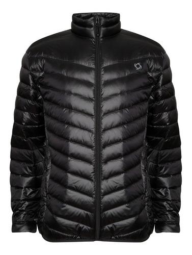 chaqueta pluma eboni stripe negro doite