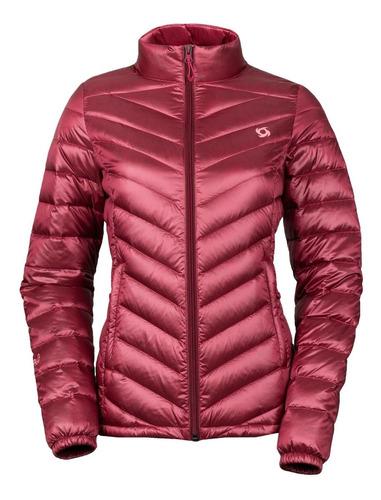 chaqueta pluma eboni stripe rosa doite