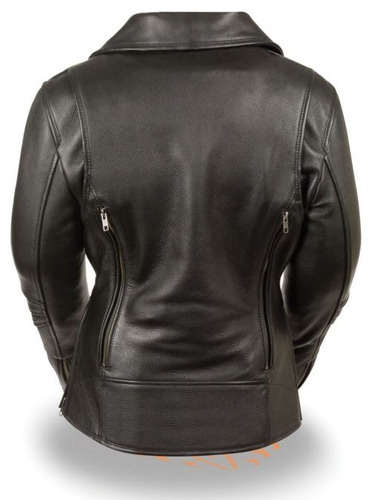 chaqueta p/motociclista milwaukee cuero p/mujer larga 2xl