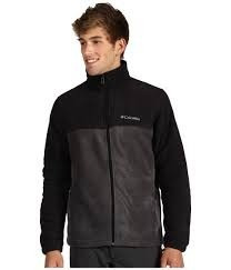 chaqueta polar fleece columbia negro/gris talla l etiqueta