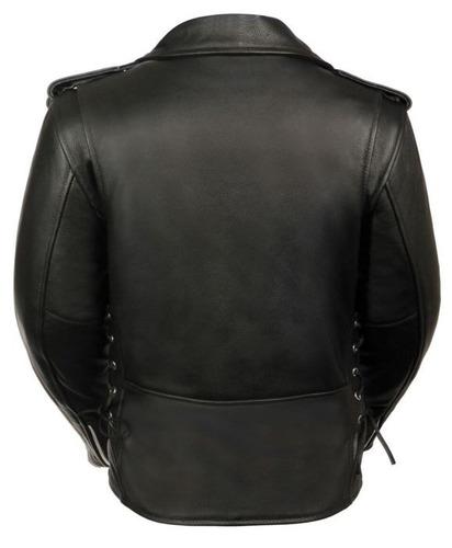 chaqueta policial milwaukee mujer d/cuero completa negra 3xl