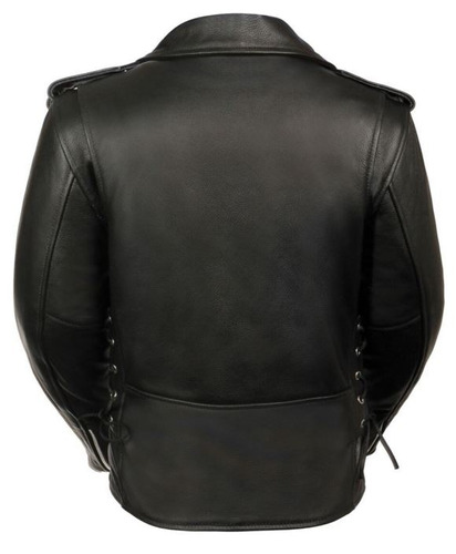 chaqueta policial milwaukee mujer d/cuero completa negra md