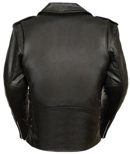chaqueta policial milwaukee p/hombre cuero c/cordón alta 5xl