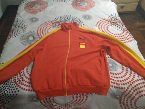 chaqueta puma españa rojo y amarillo talla xl