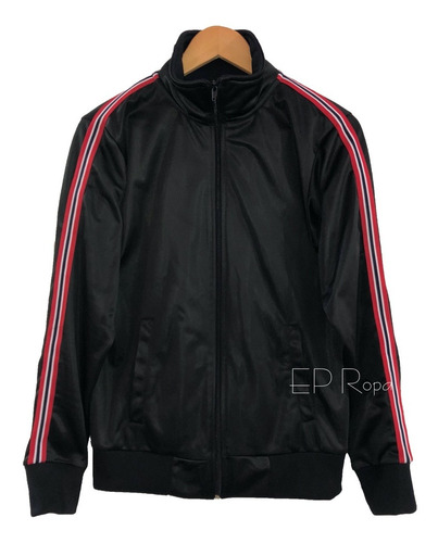 chaqueta rayas laterales hombre moda casual deportiva