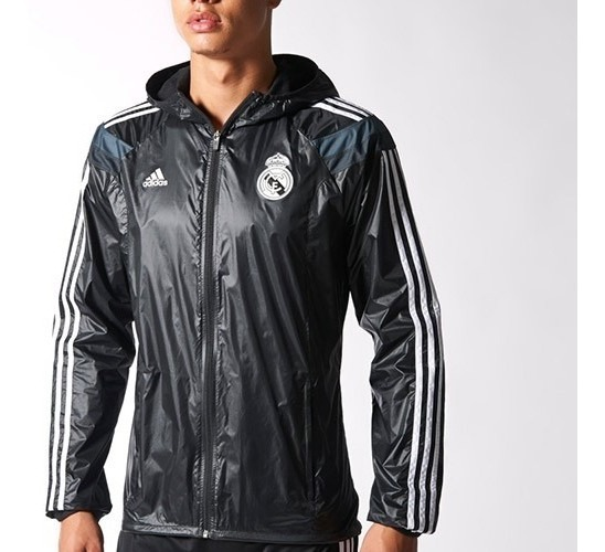 hot product new styles new photos Chaqueta Real Madrid Negra Champions League 2015