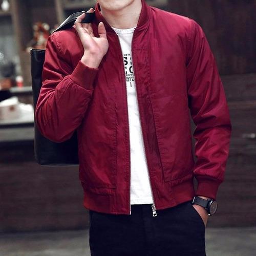 chaqueta roja fashion padded bomber jacket bike motorcycle
