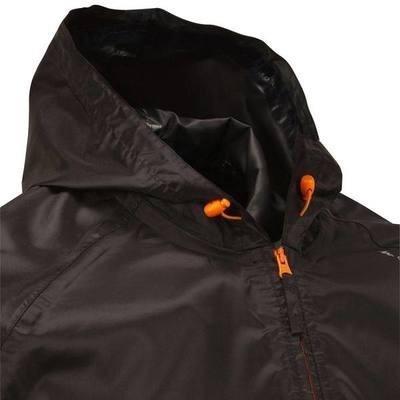 chaqueta rompevientos quechua, impermeable negra,azul y roja