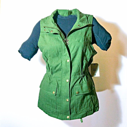 chaqueta sin mangas g.h. bass & co verde para mujer m