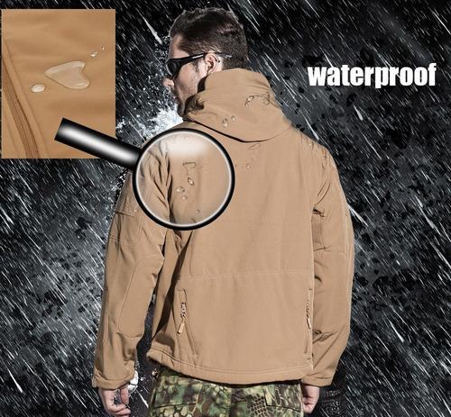 chaqueta softshell táctica militar montaña camuflaje urbano