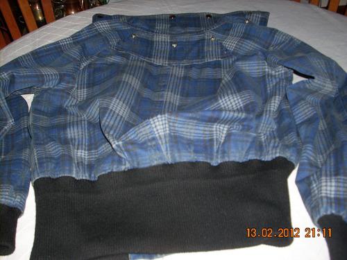 chaqueta sport azul marca rolly go con negro talla l