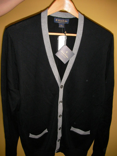 chaqueta, sueter. 100%algodon. marca brooks brothers.