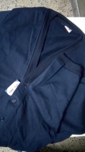 chaqueta sueter escolar azul unisex bambino