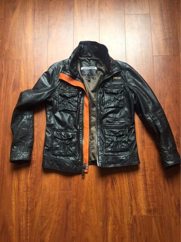 chaqueta superdry falcon cuero