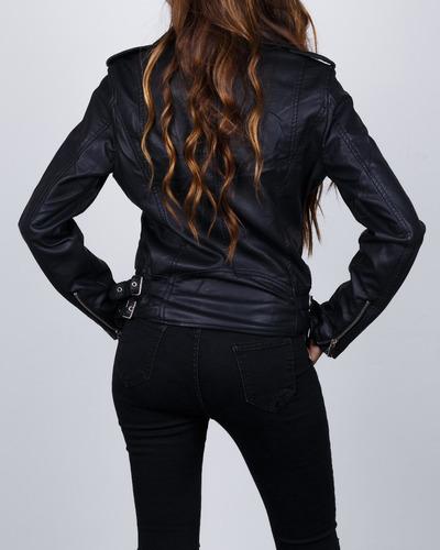 chaqueta synergy biker negra 201a