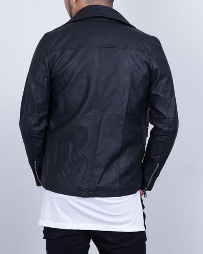 chaqueta synergy biker negra h308