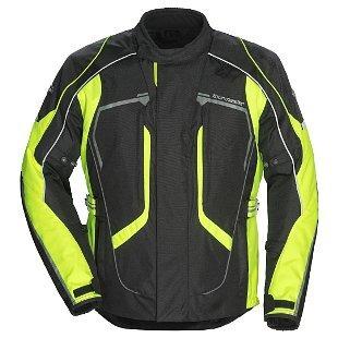 chaqueta tourmaster advanced hombre textil negro/amarillo lg