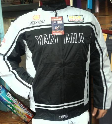 chaqueta yamaha acolchonada y impermiable toda las tallas