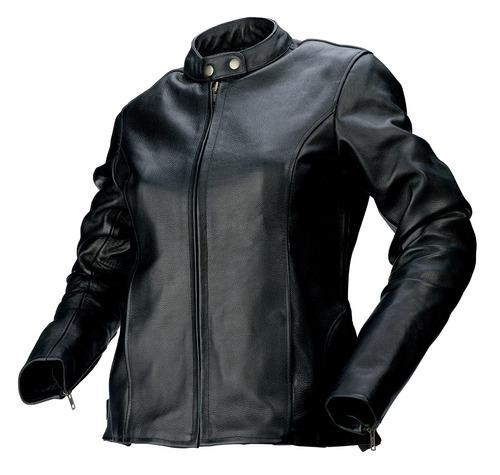 chaqueta z1r 357 para mujer de cuero negro xs
