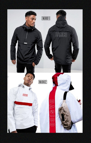 chaquetas de caballero basico clothing impermeables negra