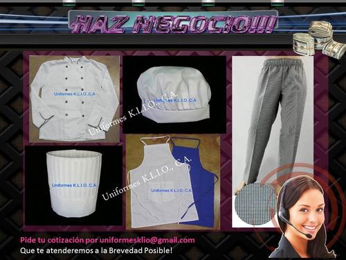 chaquetas de chef, uniformes de cocina, industriales y más