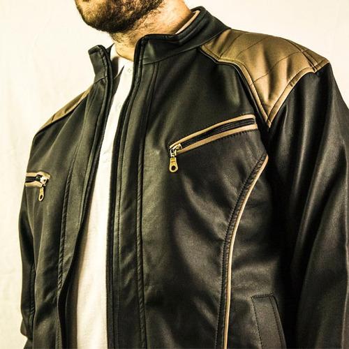 chaquetas hombre cuero textil con cremalleras envio gratis