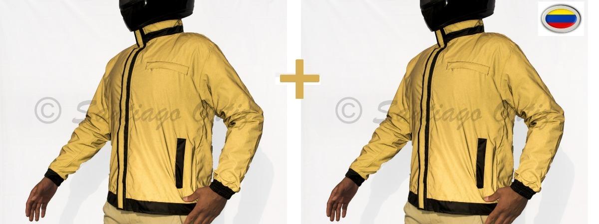 611be6722b6 chaquetas reflectivas totalmente 100% impermeable para moto. Cargando zoom.