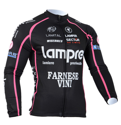 chaquetilla ciclismo térmica lampre black