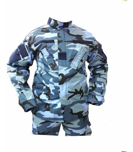 chaquetilla tactica policial corte americano urbano azul