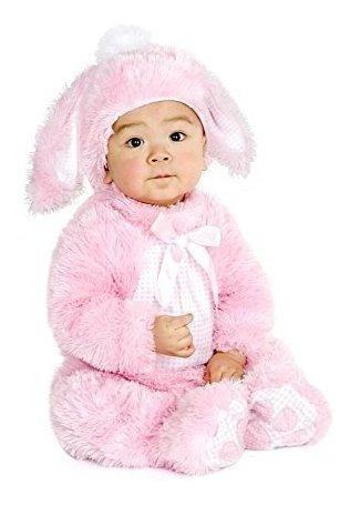 charades felpa pequeno conejito rosa traje de nino, nino peq