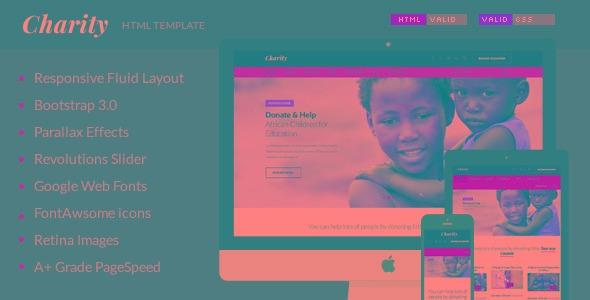 charity nonprofit ngo fundraising html template r 25 00 em