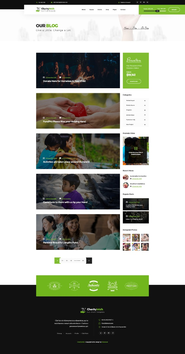charity walk multipurpose nonprofit psd template r 25 00 em