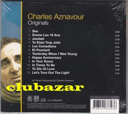 charles aznavour cd originals 2007 12 temas nuevo sellado