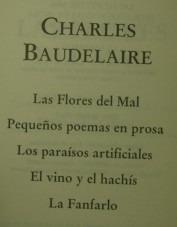 charles baudelaire; obras selectas