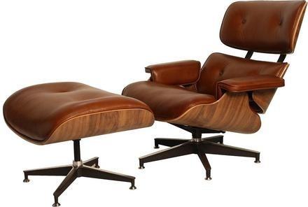 Poltrona Charles Eames C/ Puff / Frete Gratis Todo Brasil - R ...