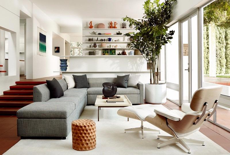 Cadeira Poltrona Charles Eames Com Puff Em Couro - Design - R ...