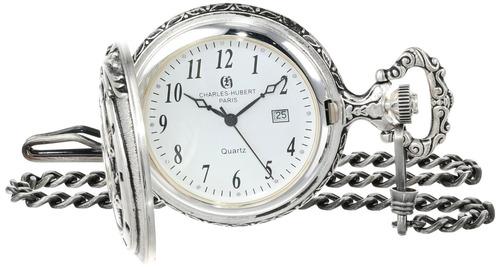 charles-hubert, reloj de bolsillo de cuarzo de parís