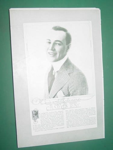 charles ray clipping recorte actor teatro antiguo