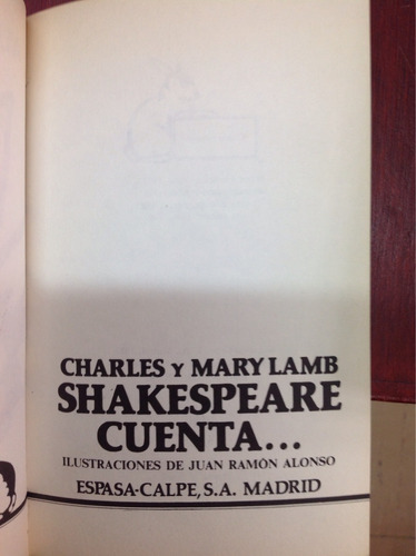 charles y marly lamb. shakespeare cuenta...ilustraciones