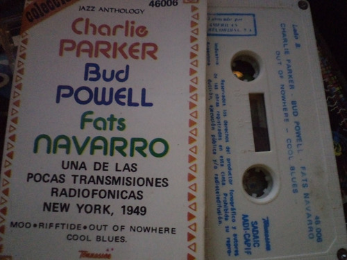 charlie parker,bud powell,fats navarro jazz cassette  thx77