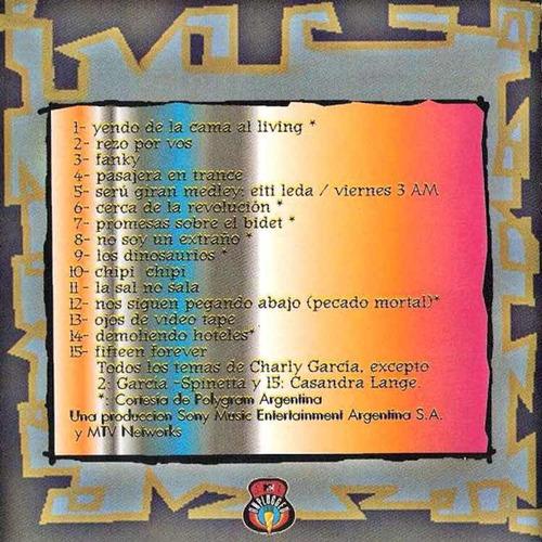 charly garcia mtv unplugged vinilo doble nuevo 2 lp