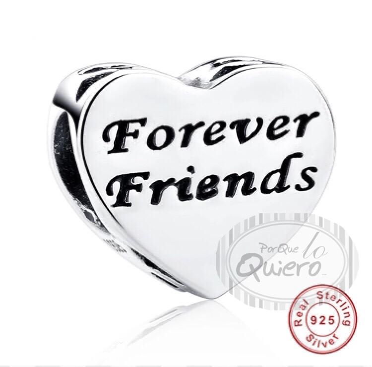 8a695e674fb9 Charm 100% Plata Forever Friends Amigos Compatible Pandora
