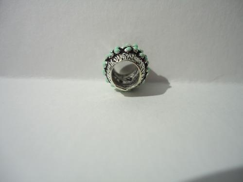 charm / berloque separador florido esmaltado  prata lei 925