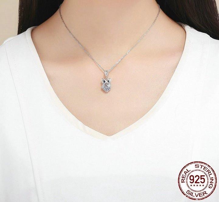 8596714036b5 Charm Dije Búho Cristales Para Pulsera O Collar En Plata 925