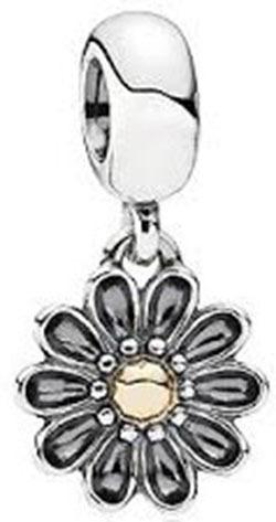 charm pingente  prata 925 flores