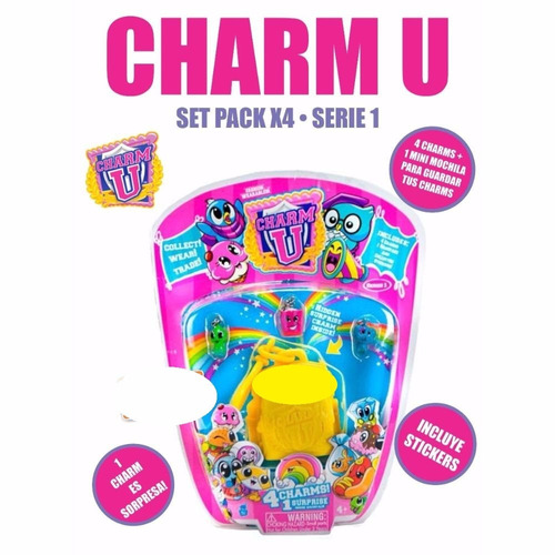charm u - pack x 4 - dije pulsera - original - collectoys