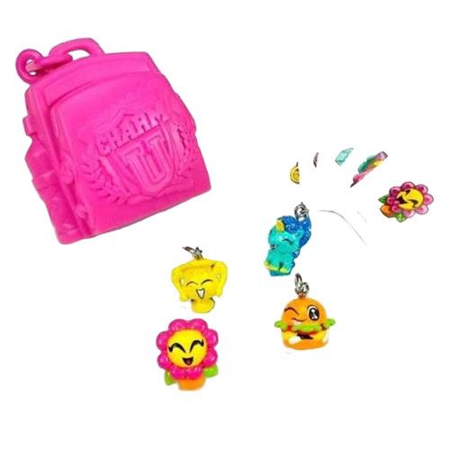 charm u shine pack blister dijes x4 + 1 backpack + stikers