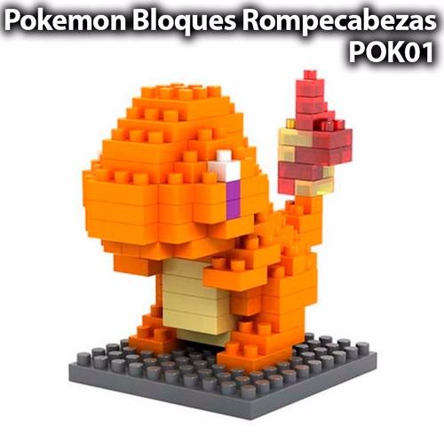 charmander pokemon lego mini blocks rompecabezas armable