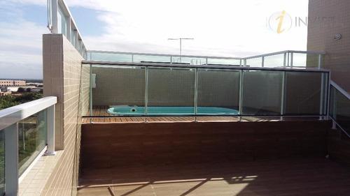 charmosa cobertura com piscina e churrasqueira - co0048