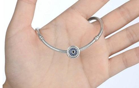 mejor precio super especiales como encontrar Charms D Plata Y Zirconias Ojo Turco Compatibles Con Pandora